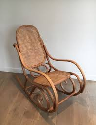 100 Rocking Chair With Pouf Vintage Bentwood 1970s For Sale At Pamono