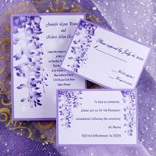 Incredible Purple Floral Wedding Invitations INSH032