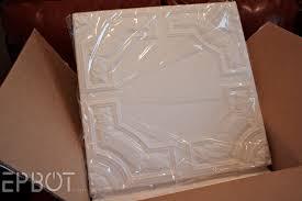 Foam Glue Up Ceiling Tiles by Epbot Diy Faux Tin Tile Ceiling