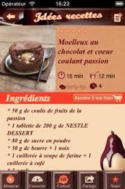 nestlé desserts le chocolat dans l app store igeneration