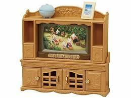 sylvanian families luxus farbfernseher tv fernsehschrank