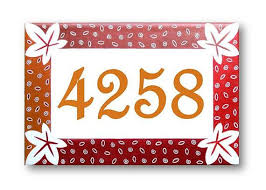134 best address numbers signs images on house number