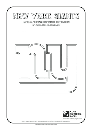Nfl Printable Coloring Sheets Football Pages Giants Free Helmet