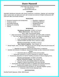 Supervisor Resume Sample Free With Warehouse For Make Cool Production 626