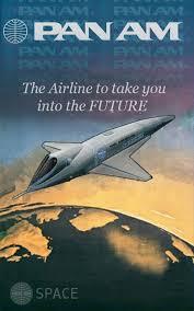 Sci Fi Airshow Vintage Pan Am Poster