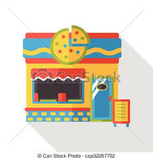 Shop Store Pizza Flat Icon