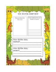 Printable Book Report Forms Elementary And Reports The Cereal Box Template Can