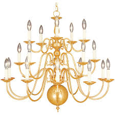 Gold 20 Light Chandelier With Dimmer Switch