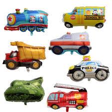 99 Truck Birthday Party Kids Big Toy Car Foil Balloon Kids Gift Tank Ambulance Bus Fire