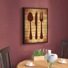 Andover Mills Kitchen 2 Utensils Framed Graphic Art On Wrapped Canvas