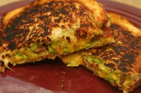 Pumpkin Guacamole Throw Up Cheese by Cooking Claire Bacon Guacamole Grilled Cheese Sandwich