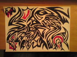 Tribal Art Hidden Name By Aje3150