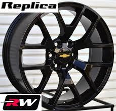 2014 GMC Sierra Wheels Gloss Black 20 Inch Rims Fit Silverado Tahoe ...