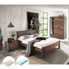 schlafzimmermöbel komplett set in matera anthrazit grau mit mix de