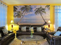Nautical Style Living Room Furniture by Blue Curtain Side Nice Lamp On Square Table Fit To Beach Themed