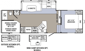 Fifth Wheel Bunkhouse Floor Plans by Caswell Rv