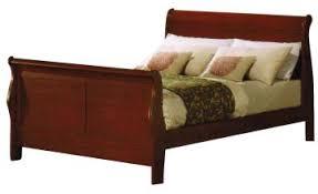 louis philippe eastern king sleigh bed in cherry oak 00387ek