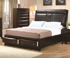Stylish Cal King Storage Bed Simple And Practical To Carry Out
