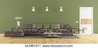 grün und braun wohnzimmer clip k51861311 fotosearch