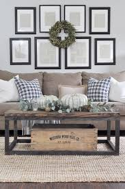 Farmhouse Style Living Room With Fall Decorating Touches