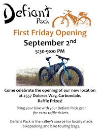 First Friday: Shop Party Sept 2nd – Defiant Pack