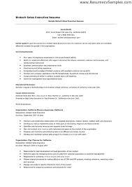 Biotech Resume Sample