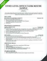 Office Clerk Resume Samples Entry Level Sample Genius Intended For Best Clerical
