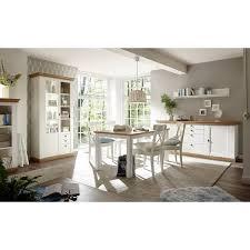 esszimmermöbel set im landhaus stil 61 in pinie weiß wotan eiche nb mit großem sideboard ohne stühle b h t ca 646x204x52cm