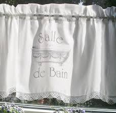 gardine shabby chic salle de bain bad curtain vorhang bistrogardine