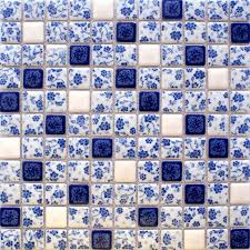 blue and white porcelain tile kitchen backsplashes glazed ceramic