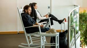 What's Up With The Rocking Chairs At The Charlotte Airport ... 10 Best Rocking Chairs 2019 Building A Modern Plywood Chair From One Sheet White Baby Rabbit With Short Ears Sitting On Wood Armchairs Recliner Ikea Striped Upholstered Mahogany Framed Parts Of Hunker Uhuru Fniture Colctibles Sold Rocker 30 The Thing I Wish Knew Before Buying For Our Buy Living Room Online At Overstock Find More Inoutdoor Classic Wooden Like Hack Strandmon Diy Wingback Interiors