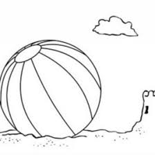 Beach Ball Coloring Page 1