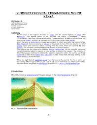 PDF Geomorphology Of Mount Kenya Region