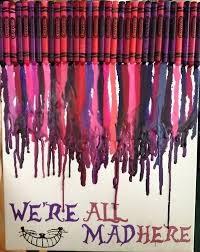 Alice In Wonderland Crayon Art