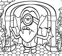 Coloring Pages Cartoon Network Halloween Character Free Printable Activities Kids Minion Banana