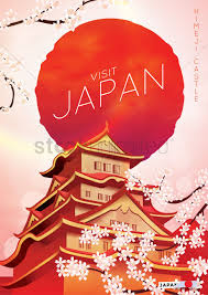 Visit Japan Poster Vector Graphic