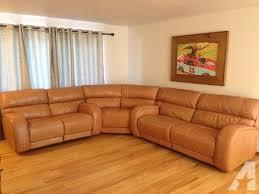 Macy s Leather Damon Sectional Sofa for Sale in Yakima