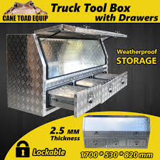 100 Heavy Duty Truck Tool Boxes Aluminium Box Storage W Drawers Extra Large W Lock Bar