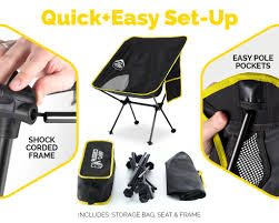 RuggedCamp Versalite Portable Folding Chair - For Camping, Beach, Sporting  Events, Festivals - Camping Gear Accessory And Outdoor Folding Chair