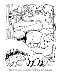 Coloring Pictures Of Animal Homes