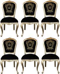 pompöös by casa padrino luxus barock esszimmerstühle mit krone schwarz gold pompööse barock stühle designed by harald glööckler 6