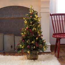 4 Ft Pre Lit Christmas Tree by Belham Living 4 Ft Pomegranate Pine Pre Lit Battery Operated