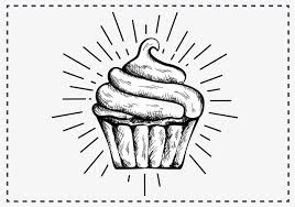 Free Hand Drawn Cupcake Background