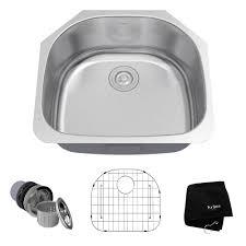 Home Depot Bar Sink Strainer by Kraus Undermount Stainless Steel 23 In Single Basin Kitchen Sink