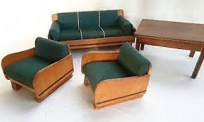 wohnzimmer möbel 40er jahre sofa sessel tisch puppenstube