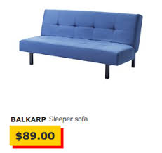 e Year With Ikea s Second Cheapest Sleeper Sofa The Billfold