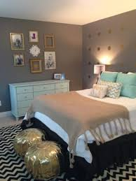 Mint Bedroom Ideas Wooden Cushioned Arm Chair Unique Bulb Lamp White Oak Wardrobe Cabinet Gray Table