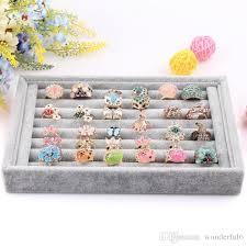 Fashion Ring Display Tray Jewelry Organizer Rings Earrings Accessories Plate Showcase Storage Home Decoration