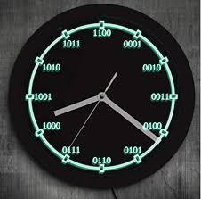 lyhzxc wanduhr binär code mathe digital gleichung led