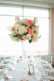 Coral Color Decorations For Wedding by Best 20 Table Flowers Ideas On Pinterest Wedding Table Flowers